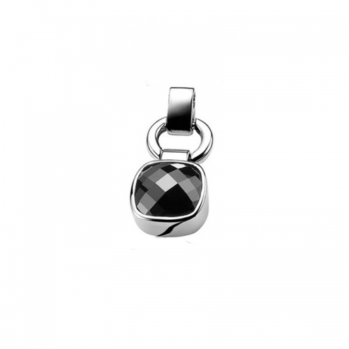 Zinzi Silver and Black Zirconia Pendant