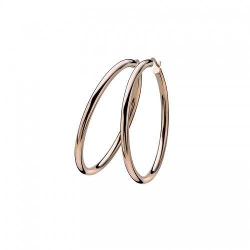 Zinzi Rose Gold Plated 45mm Smooth Hoop Earrings