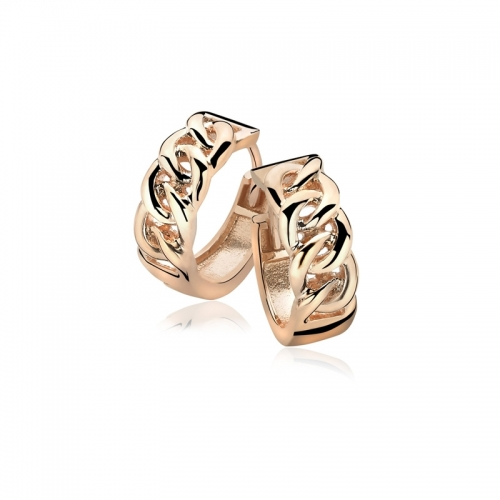 Zinzi Rose Gold Plated Gourmet Earrings