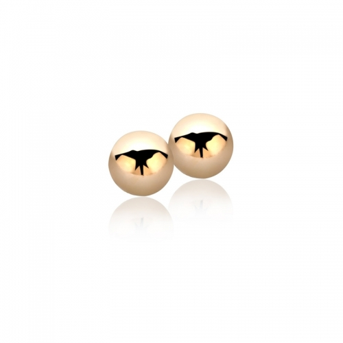 Zinzi Rose Gold Plated Smooth Sphere Stud Earrings