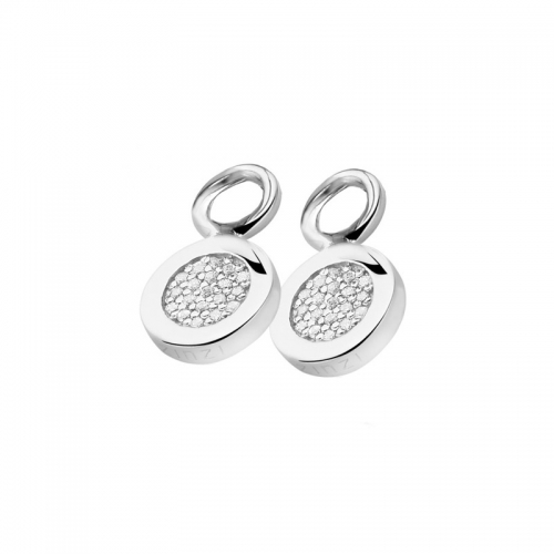 Zinzi Silver Earring Pendants With White Zirconias