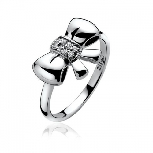 Zinzi Silver Bow Ring