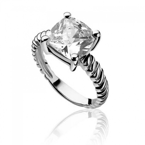 Zinzi Silver Ring with Square CZ