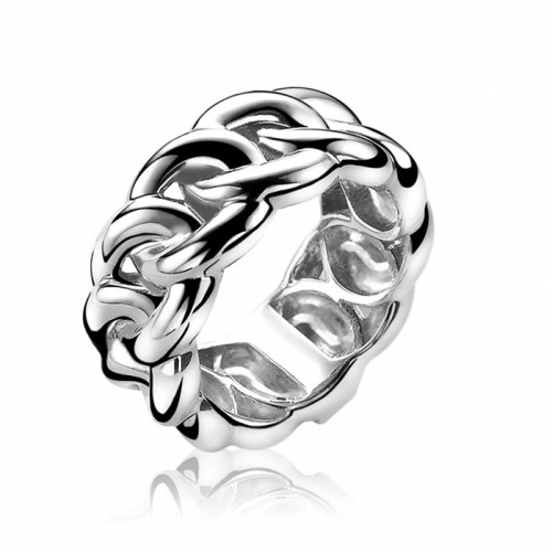Zinzi Smooth Gourmet Link Silver Ring