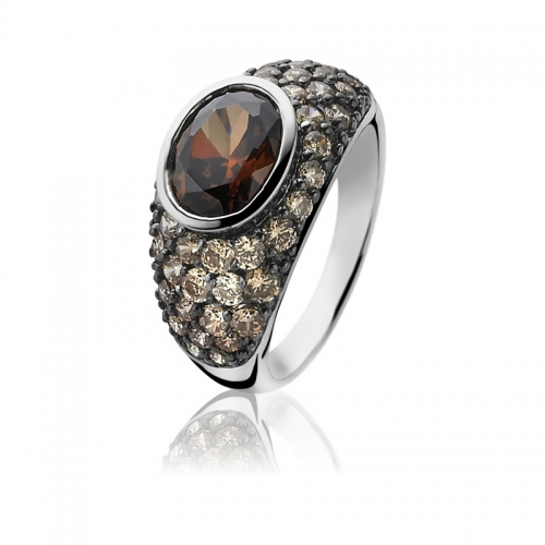 Zinzi Brown Zirconia Statement Ring
