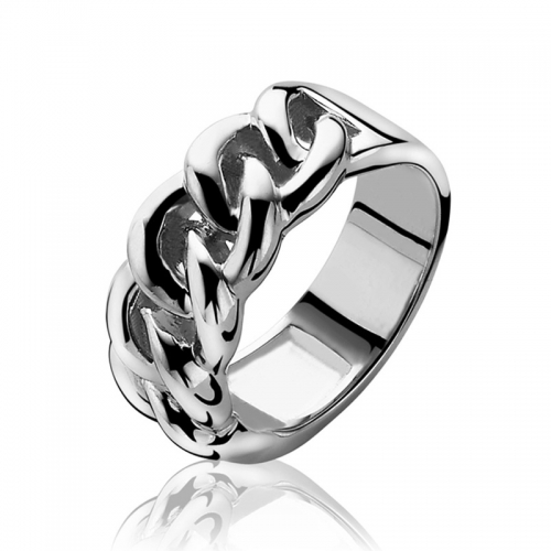 Zinzi Gourmet Link Silver Ring