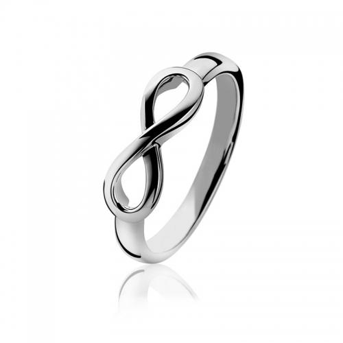 Zinzi Silver Infinity Ring