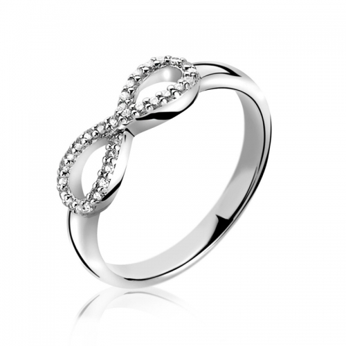 Zinzi Silver CZ Infinity Ring