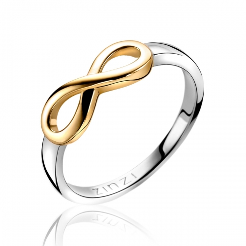 Zinzi Yellow Gold Infinity Ring