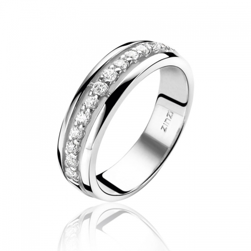 Zinzi Channel Set White CZ Ring