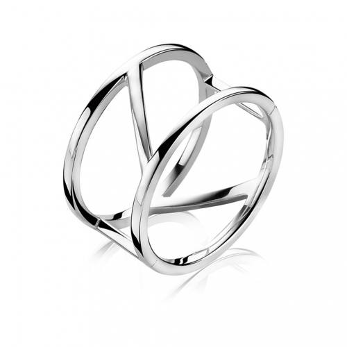 Zinzi Modern Silver Band Ring