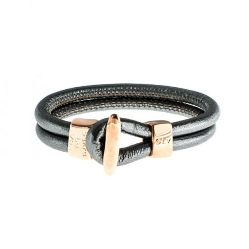 Senta La Vita Anthracite Metallic Charm Bracelet