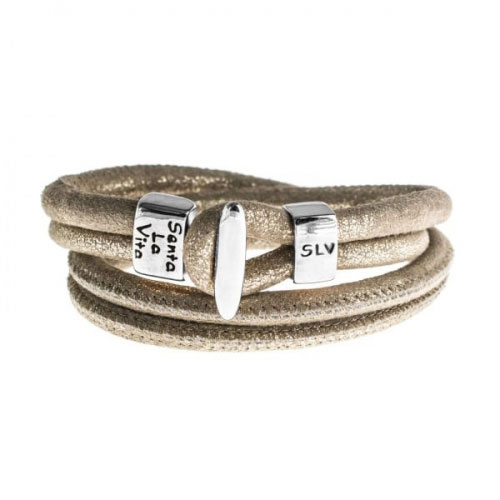 Senta La Vita Metallic Earth Double Wrap Charm Bracelet