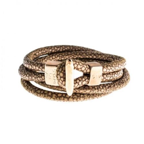 Senta La Vita Bronze Double Wrap Charm Bracelet