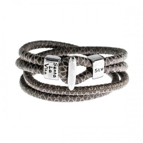 Senta La Vita Senta La Vita Viperina Double Wrap Charm Bracelet