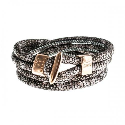 Senta La Vita Senta La Vita Stingray Double Wrap Charm Bracelet