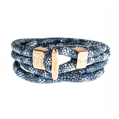 Senta La Vita Stingray Blue Double Wrap Charm Bracelet