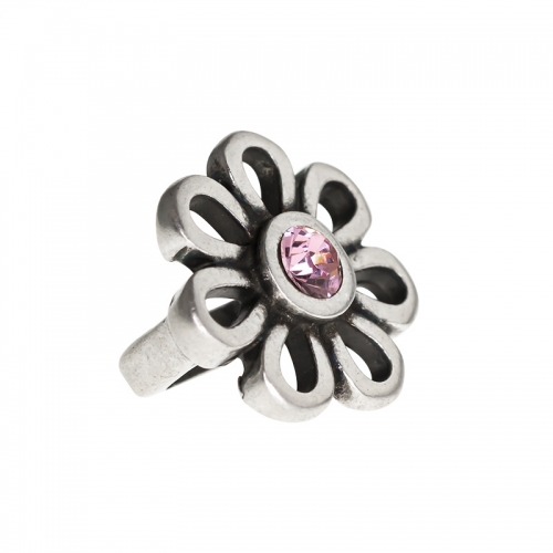 Senta La Vita Light Rose Swarovski Flower Charm