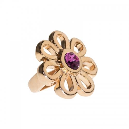 Senta La Vita Rose Pink Swarovski Flower Charm