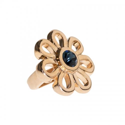 Senta La Vita Blue Denim Swarovski Flower Charm