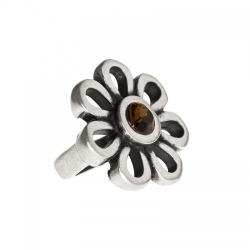 Senta La Vita Smoked Topaz Swarovski Flower Charm