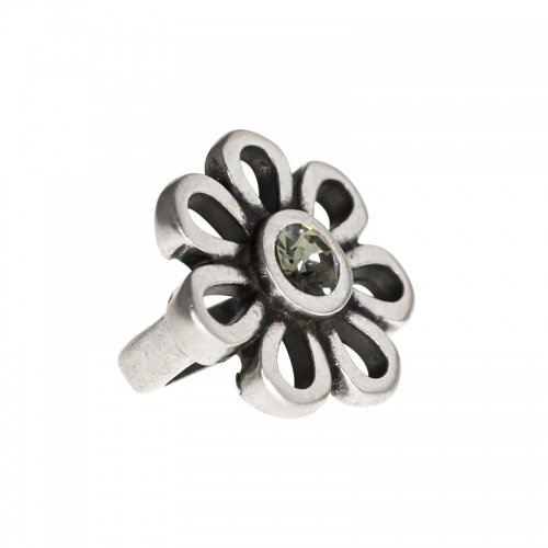 Senta La Vita Senta La Vita Black Diamond Swarovski Flower Charm