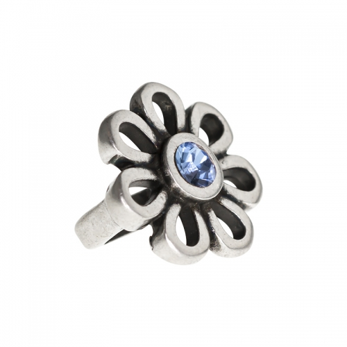 Senta La Vita Light Sapphire Swarovski Flower Charm