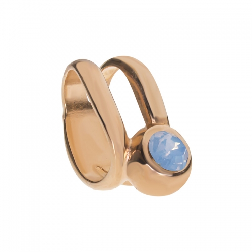 Senta La Vita  Air Blue Opal Swarovski Double Ring Charm
