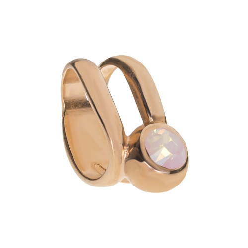 Senta La Vita  Rose Water Opal Swarovski Double Ring Charm
