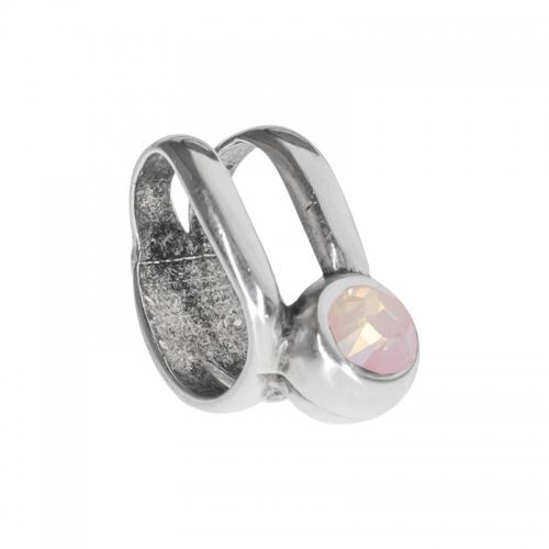 Senta La Vita Senta La Vita Rose Water Opal Swarovski Double Ring Charm