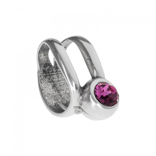 Senta La Vita  Rose Swarovski Double Ring Charm