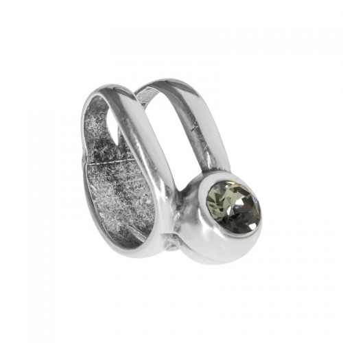 Senta La Vita Black Diamond Swarovski Double Ring Charm