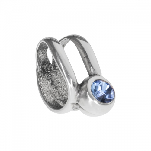 Senta La Vita Light Sapphire Swarovski Double Ring Charm