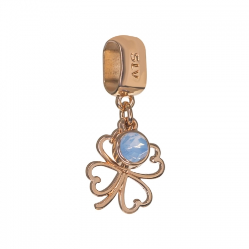 Senta La Vita Air Blue Opal Swarovski Open Clover Dangle Charm