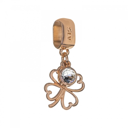 Senta La Vita Crystal Swarovski Open Clover Dangle Charm