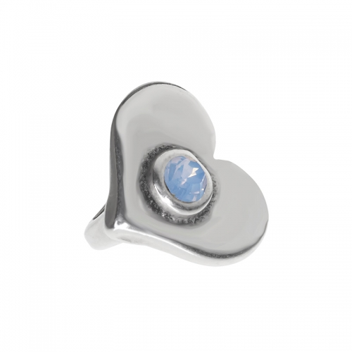 Senta La Vita  Air Blue Opal Swarovski Heart Charm