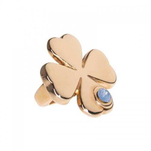 Senta La Vita  Air Blue Opal Swarovski Lucky Clover Charm