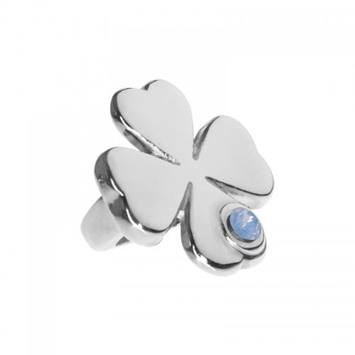 Senta La Vita Senta La Vita  Air Blue Opal Swarovski Lucky Clover Charm