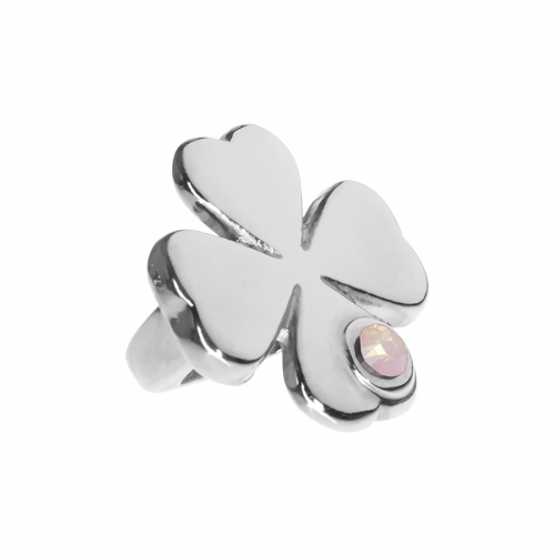 Senta La Vita  Rose Water Opal Swarovski Lucky Clover Charm