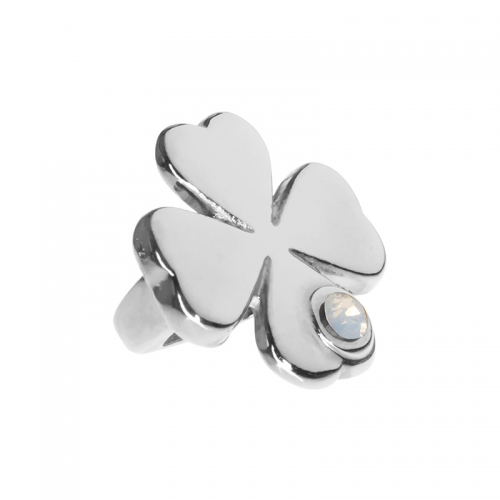 Senta La Vita  White Opal Swarovski Lucky Clover Charm