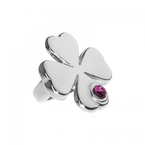 Senta La Vita  Rose Swarovski Crystal Lucky Clover Charm