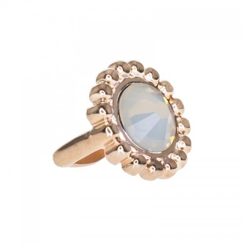 Senta La Vita White Opal Swarovski Edge Charm