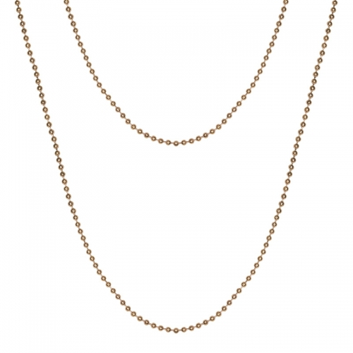 Senta La Vita Rose Gold Plated 90cm Rolo Necklace