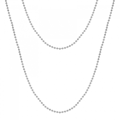 Senta La Vita Silver Colour 90cm Rolo Necklace