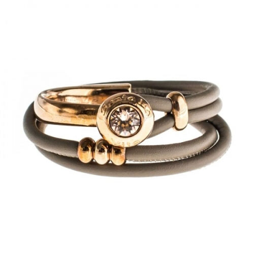 Senta La Vita Earth Double Wrap Half Bracelet with Swarovski Stone