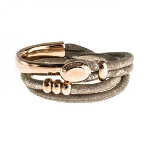 Senta La Vita Metallic Earth Double Wrap Half Bracelet