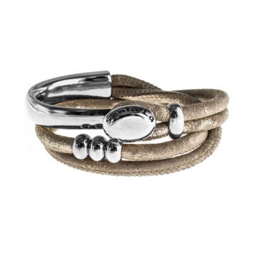 Senta La Vita Metallic Earth Double Wrap Half Bracelet