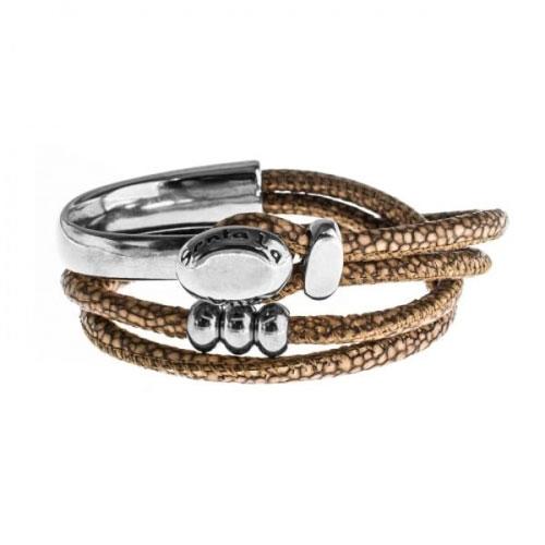 Senta La Vita Bronze Double Wrap Half Bracelet