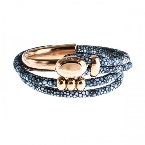 Senta La Vita Stingray Blue Double Wrap Half Bracelet