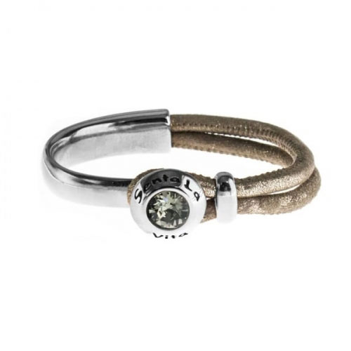 Senta La Vita Metallic Earth Half Bracelet with Swarovski Stone